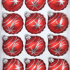12 christmas balls classic red silver comets