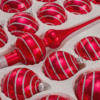 39 candy red silver lines detail