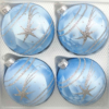 4 christmas balls ice blue silver comet