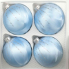 4 christmas balls ice blue silver drops