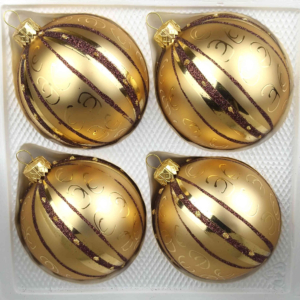 4 christmas balls golden dream special