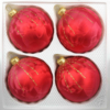 4 christmas balls ice red gold drops