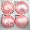 4 christmas balls ice rose silver drops