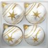 4 christmas balls ice white gold comet