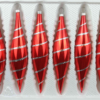 6 christmas icycles candy red silver ornaments