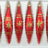 6 christmas icycles ice red gold comet