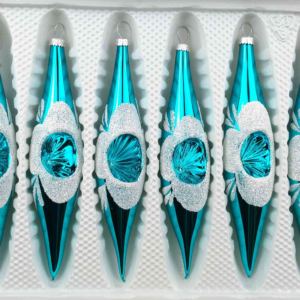 6 christmas icycles ice white silver comet