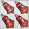 christmas ornaments bells classic red silver comet