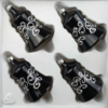 christmas ornaments bells black silver gothic