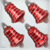 christmas ornaments bells candy red