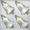 christmas ornaments bells ice white silver