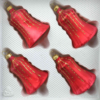 christmas ornaments bells ice red gold drops