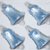 christmas ornaments bells ice blue silver drops