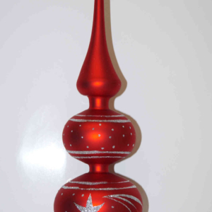 tree topper classic red silver