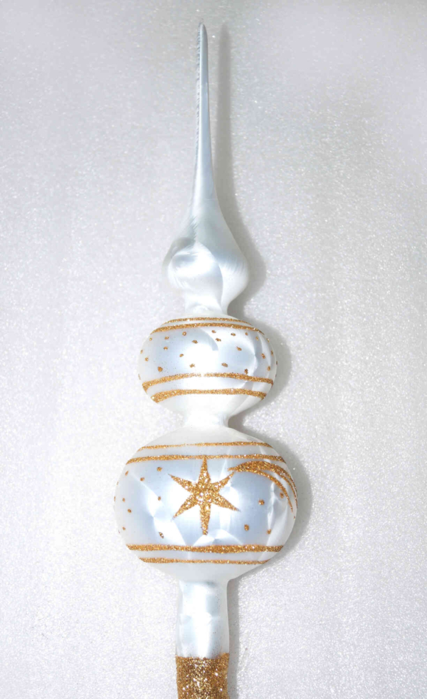 tree topper white gold comet